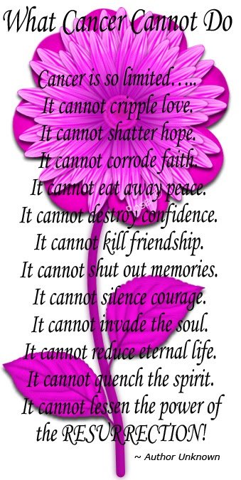 Quotes About What Cancer Cannot Do 13 Quotes