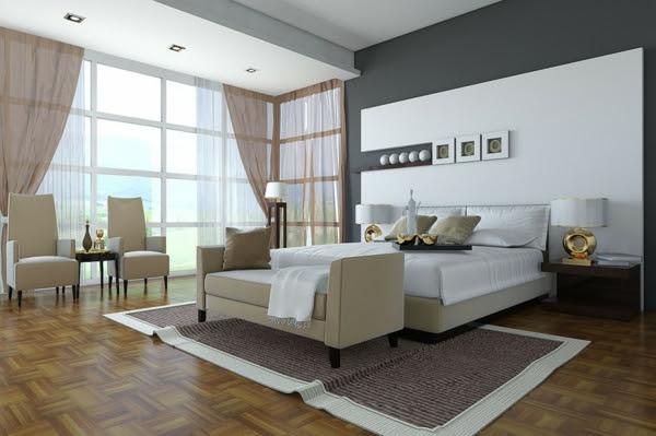 Schlafzimmer Wandfarbe auswählen und ein modernes Ambiente ...