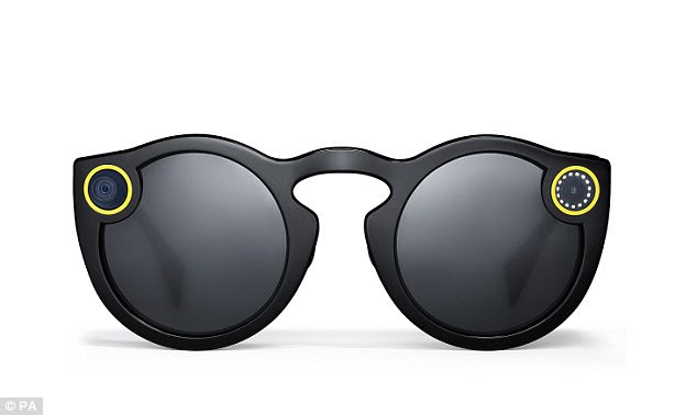 The £130 sunglasses record 10-second video clips which are then sent to the user's Snapchat account. The Spectacles are being sold in the UK for the first time