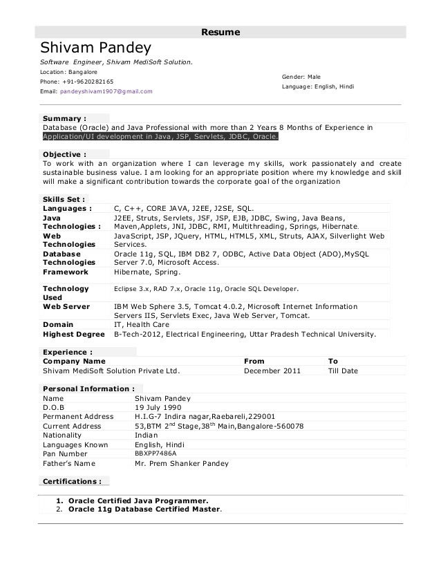 14 FREE COVER LETTER FOR JAVA DEVELOPER 5 YEAR EXPERIENCE ...