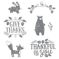 Thankful Forest Friends Wood-Mount Stamp Set by Stampin' Up!