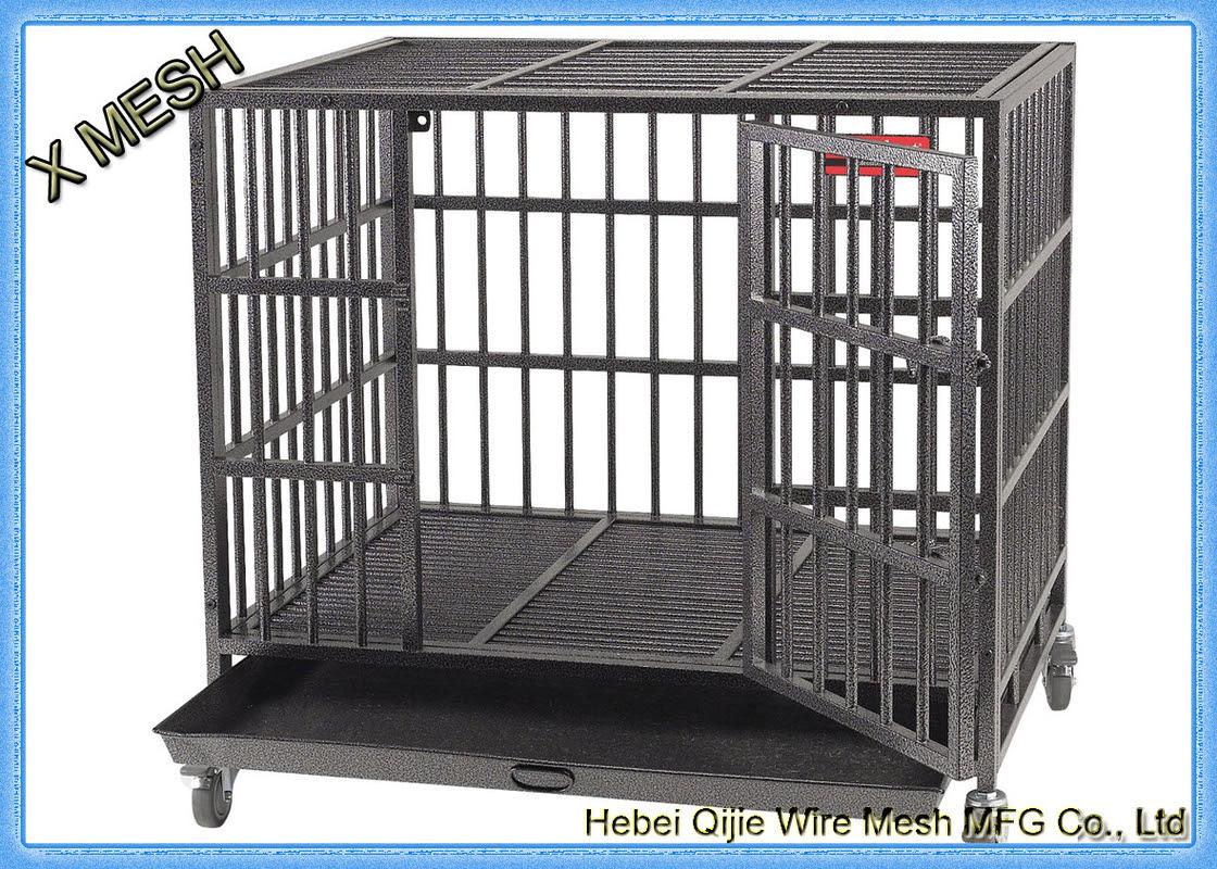 Toz Boya Kaynaklı Hasır Sepetleri Köpek Kafesi Tam Boyutlar Evcil