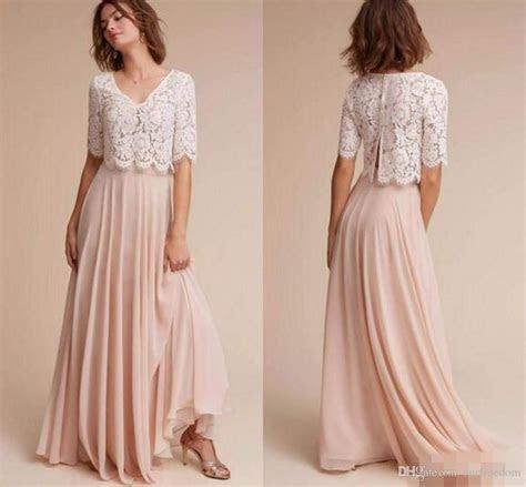 Half Long Sleeve Blush Pink Bridesmaid Dresses 2017 Lace