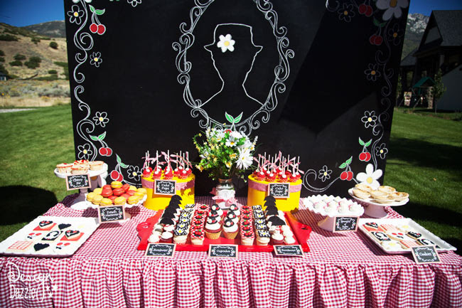 Mary Poppins Dessert Table Backdrop - Design Dazzle