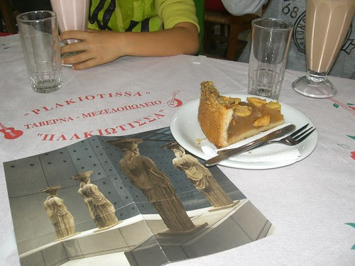 snacking after visitin the new acropolis museum