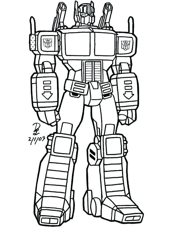 mewarnai gambar robot optimus prime