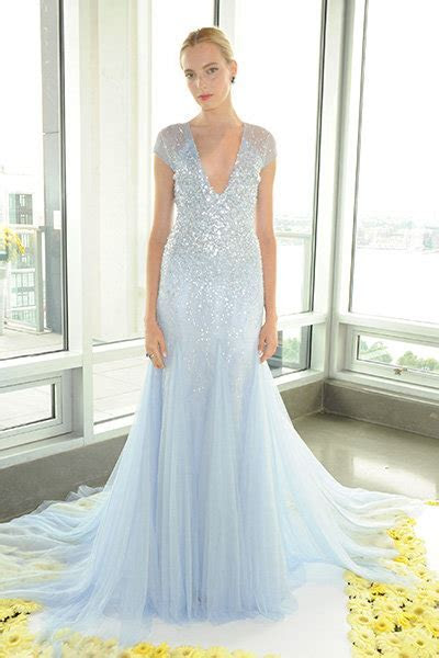 Stunning Ice Blue Wedding Dresses   BridalGuide
