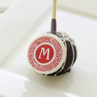 Red Initial Cake Pops