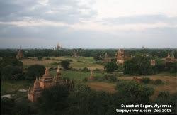 December 2008 Sunset at Bagan, Myanmar. Toa Payoh Vets