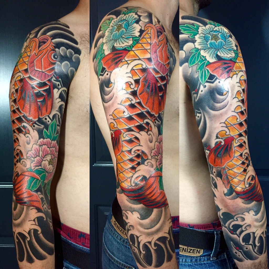 Traditional Japanese 34 Sleeve By Frankie C At Kings Ave Ny Tattoos