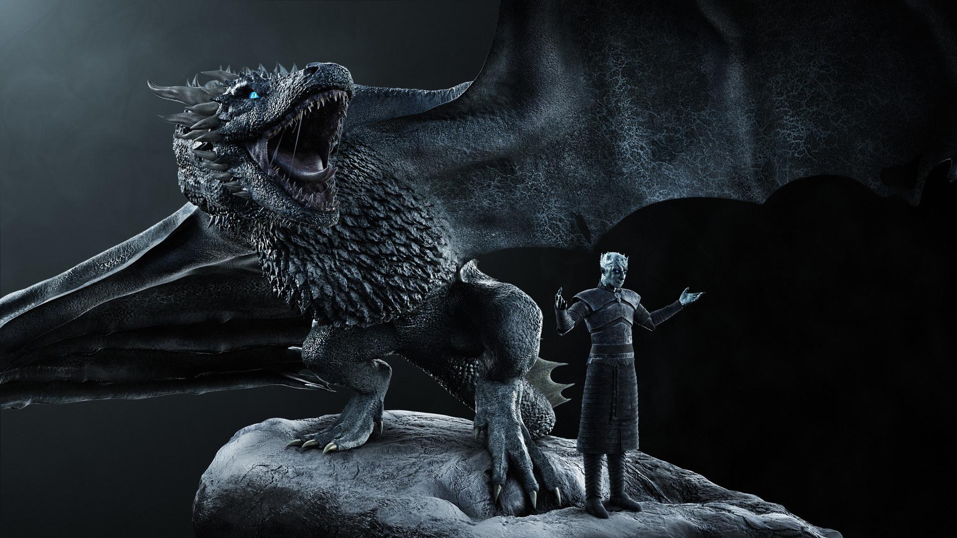 White Walker Dragon Background Wallpaper 38142 Baltana