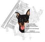 Miniature Pinscher Dog Intarsia or Yard Art Woodworking Plan - fee plans from WoodworkersWorkshop® Online Store - Miniature Pinscher dogs,pets,animals,dog breeds,intarsia,yard art,painting wood crafts,scrollsawing patterns,drawings,plywood,plywoodworking plans,woodworkers projects,workshop blueprints
