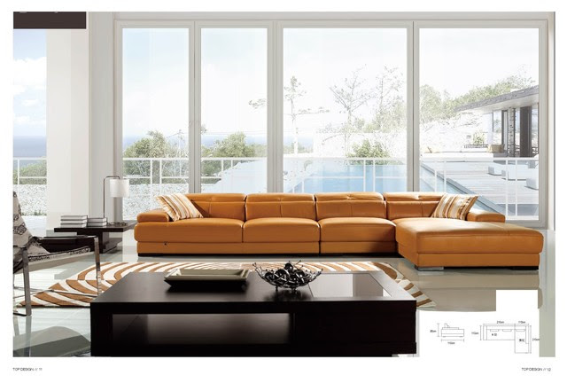 Winston Italian Leather Sectional Sofa - modern - sectional sofas
