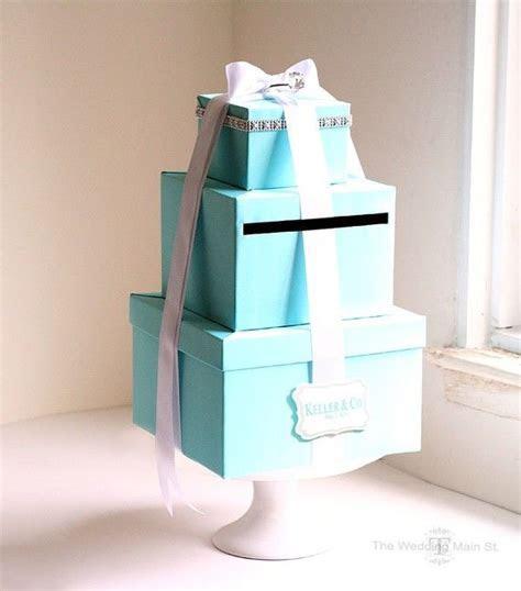Wedding Card Box Tiffany Blue Card Box Money Holder