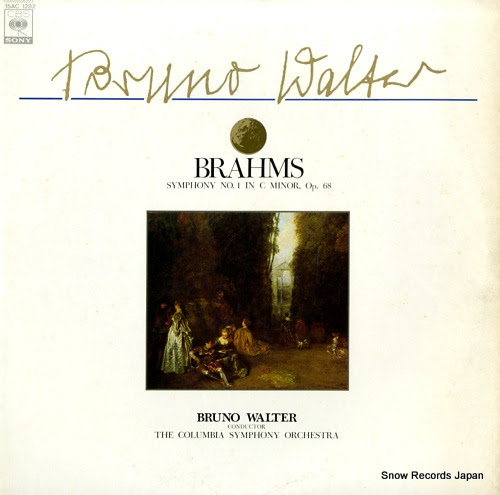 WALTER, BRUNO brahms; symphony no.1 in c minor, op.68