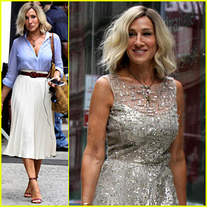 Sarah Jessica Parker Films New Project with Short Blonde Hair