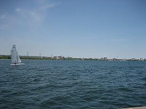 The photo is of the coastline of Burlington, O...