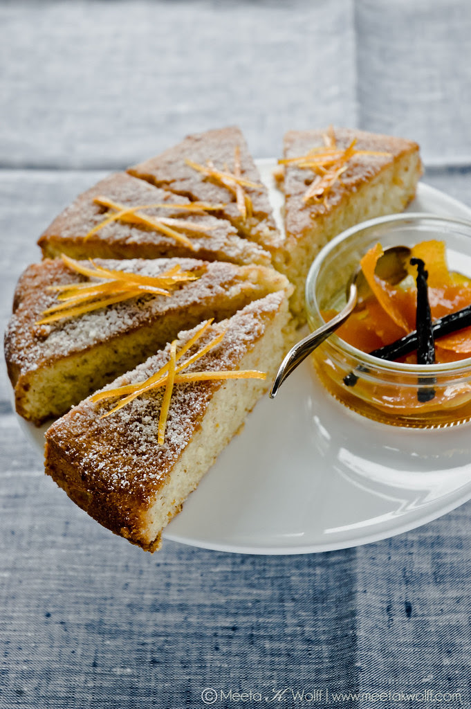 Orange Vanilla Semolina Cake (0019) by Meeta K Wolff