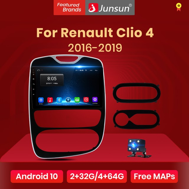 Special Price Junsun V1 Android 10.0 DSP CarPlay Car Radio Multimedia Video Player Auto Stereo GPS For Renault Clio 4 2016 - 2019 2 din dvd