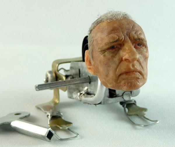 Mechanical  Hopper - OOAK Windup Sculpture