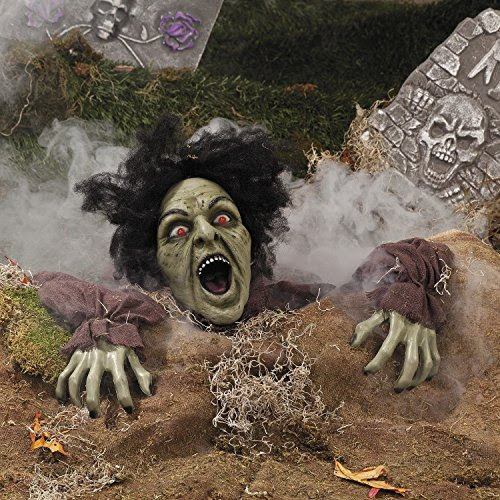LED Clawing Zombie Gravedigger Halloween Prop Lawn Wedding Graveyard Decoration