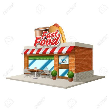 Restaurant clipart restaurant food   Pencil and in color