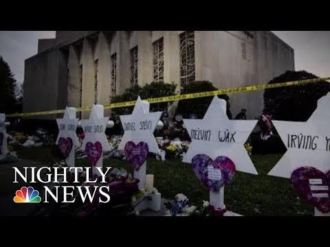 שבוע אחרי הטבח בפיטסבורג, מהדורת החדשות המרכזית של NBC הסתיימה בקדיש