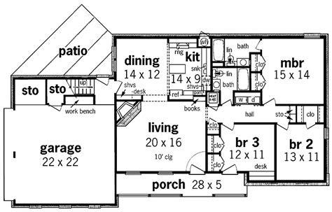 simple  story house floor plan plans house plans