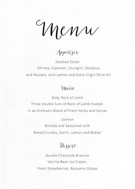 Wedding Menus   Independent Designs   Printed By Paperlust