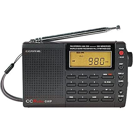 C Crane CC SW Pocket AM/FM Shortwave Pocket & Travel Radio SWP