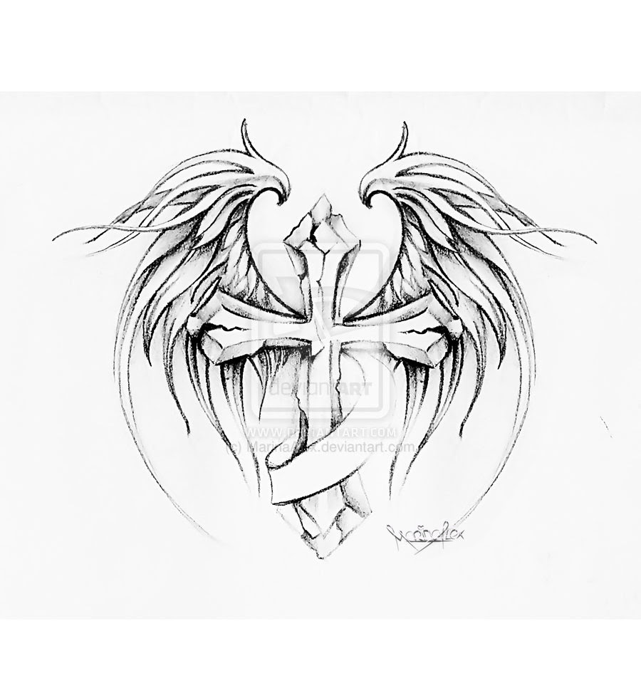 Angel Wings Tattoo Drawing At Getdrawingscom Free For Personal