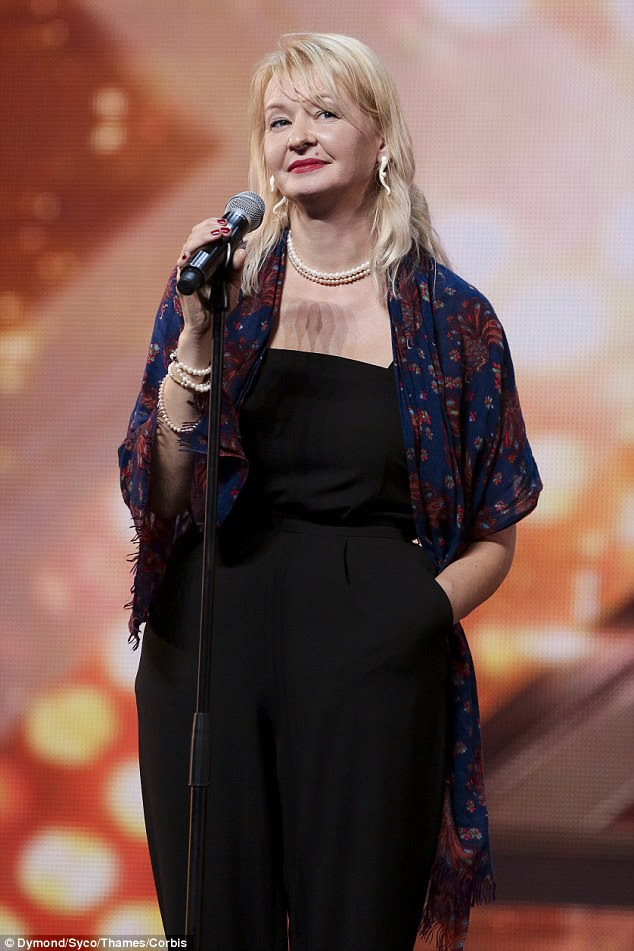 Saying it how it is:Zaiga – I am very beautiful woman. I don't need to work,' said 44-year-old Zaiga Melke as she sangWishing You Were Somehow Here Again by Andrew Lloyd Webber