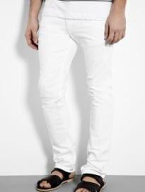 Acne White Optic Max Slim Jeans