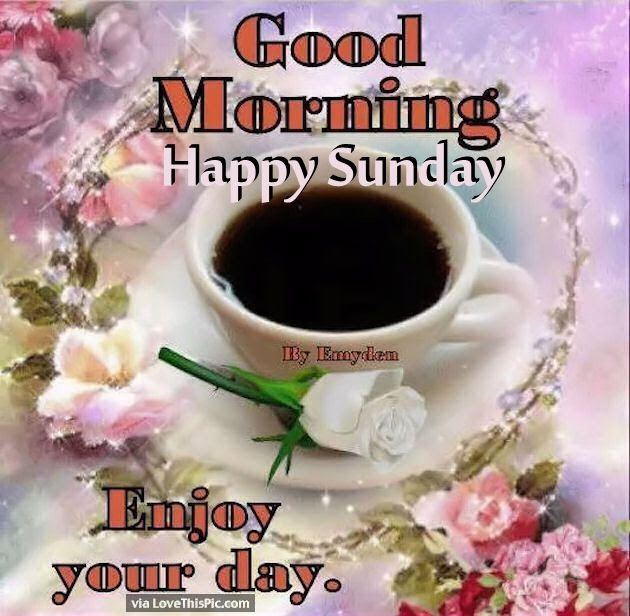 Good Morning Happy Sunday Enjoy Your Day Pictures Photos And