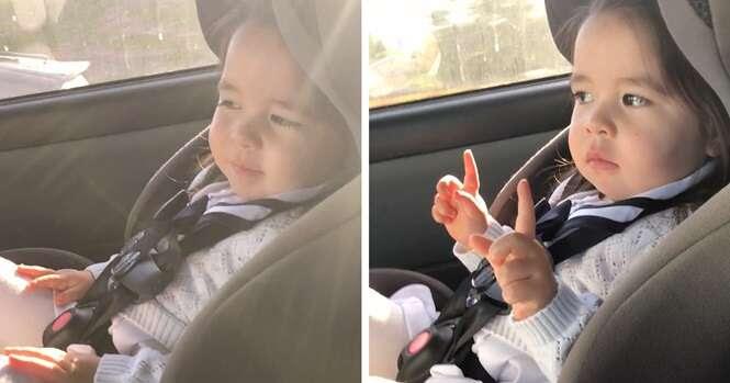 """O vídeo desta menininha fofa esperando o momento certo da música para """"explodir"""" se tornou viral"""