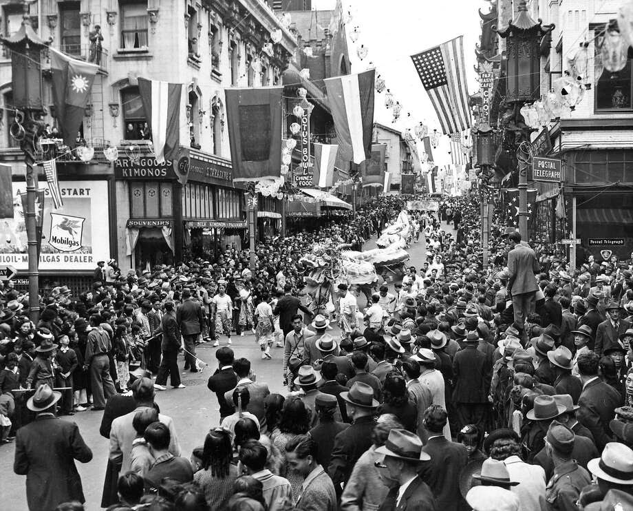 Chinese New Years parade in Chinatown  no date Photo:  Photographer Unknown