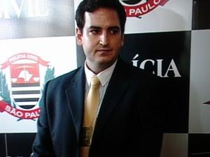 Delegado concedeu entrevista coletiva nesta terça (19) (Foto: Reprodução/TV Diário)