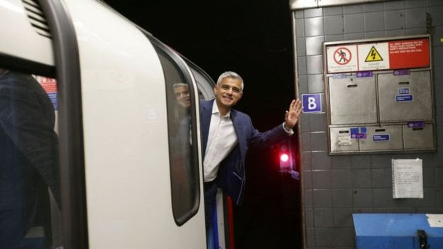 London Mayor Sadiq Khan is also looking at a 24-hour operation on the Elizabeth Line