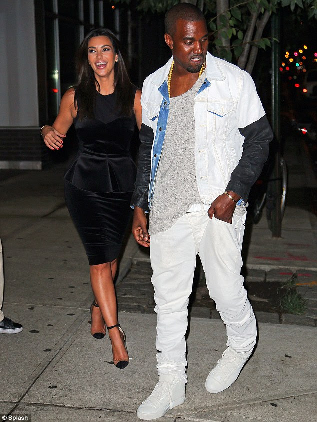 Made for each other: Meanwhile close friends of Kim and her boyfriend Kanye West have revealed that the pair are the real deal