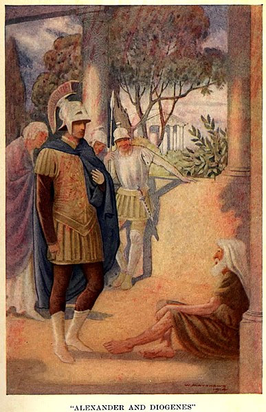 File:Alexander visits Diogenes at Corinth by W. Matthews (1914).jpg