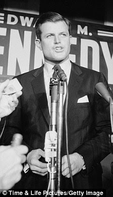 Subject: Edward Kennedy during campaign for election in Senate primary.