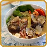 Seafood Soup with Sha Cha Sauce
