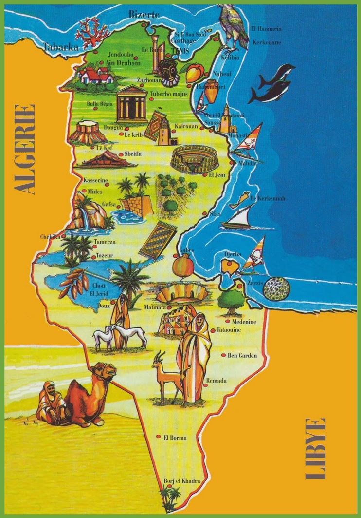 tunisia attractions map max