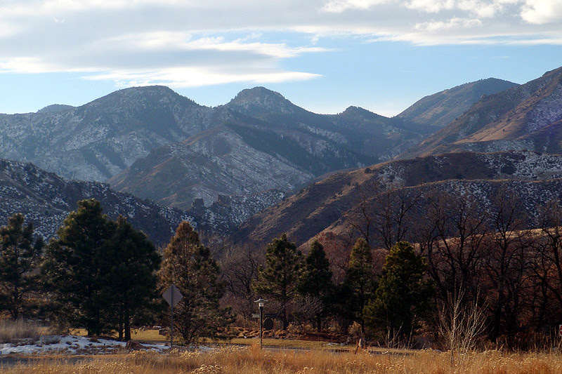Looking at the mouth of one of my favorite haunts - Waterton Canyon.
