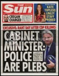 how The Sun reported 'plebgate'