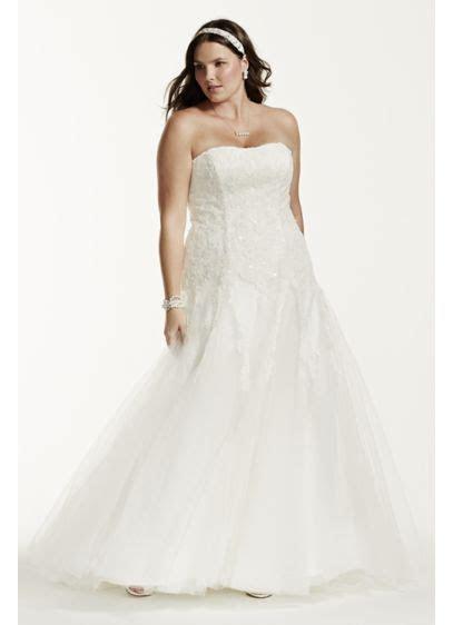 Strapless Beaded Lace Plus Size Wedding Dress   David's Bridal