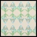 Good News Iris Mirrored Florigraphy Inkblot Fabric