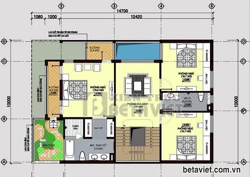 Tư vấn thiết kế biệt thự 3 tầng sang trọng, DT 10x14,7m   ảnh 3