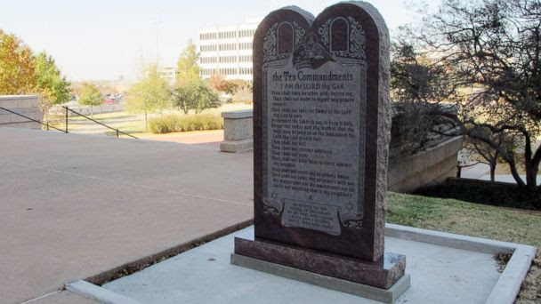 AP oklahoma ten commandments statue jef 131209 16x9 608 Satanic Temple Monument in Okla. May Include Interactive Display for Kids