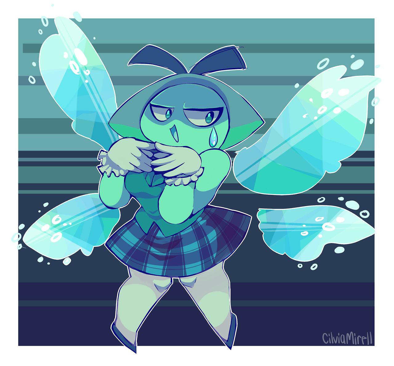 Aquamarine the mean queen bean